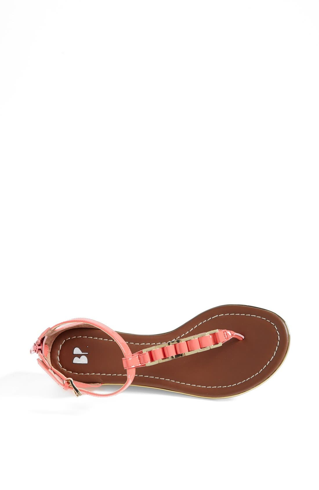 'Bonsai' Sandal,                             Alternate thumbnail 3, color,                             Coral Patent