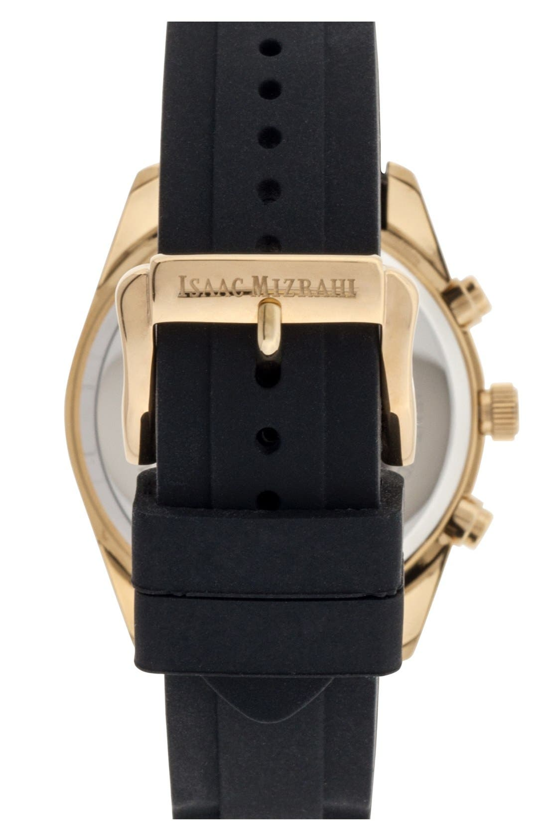 Alternate Image 2  - Isaac Mizrahi New York Crystal Accent Chronograph Watch, 38mm
