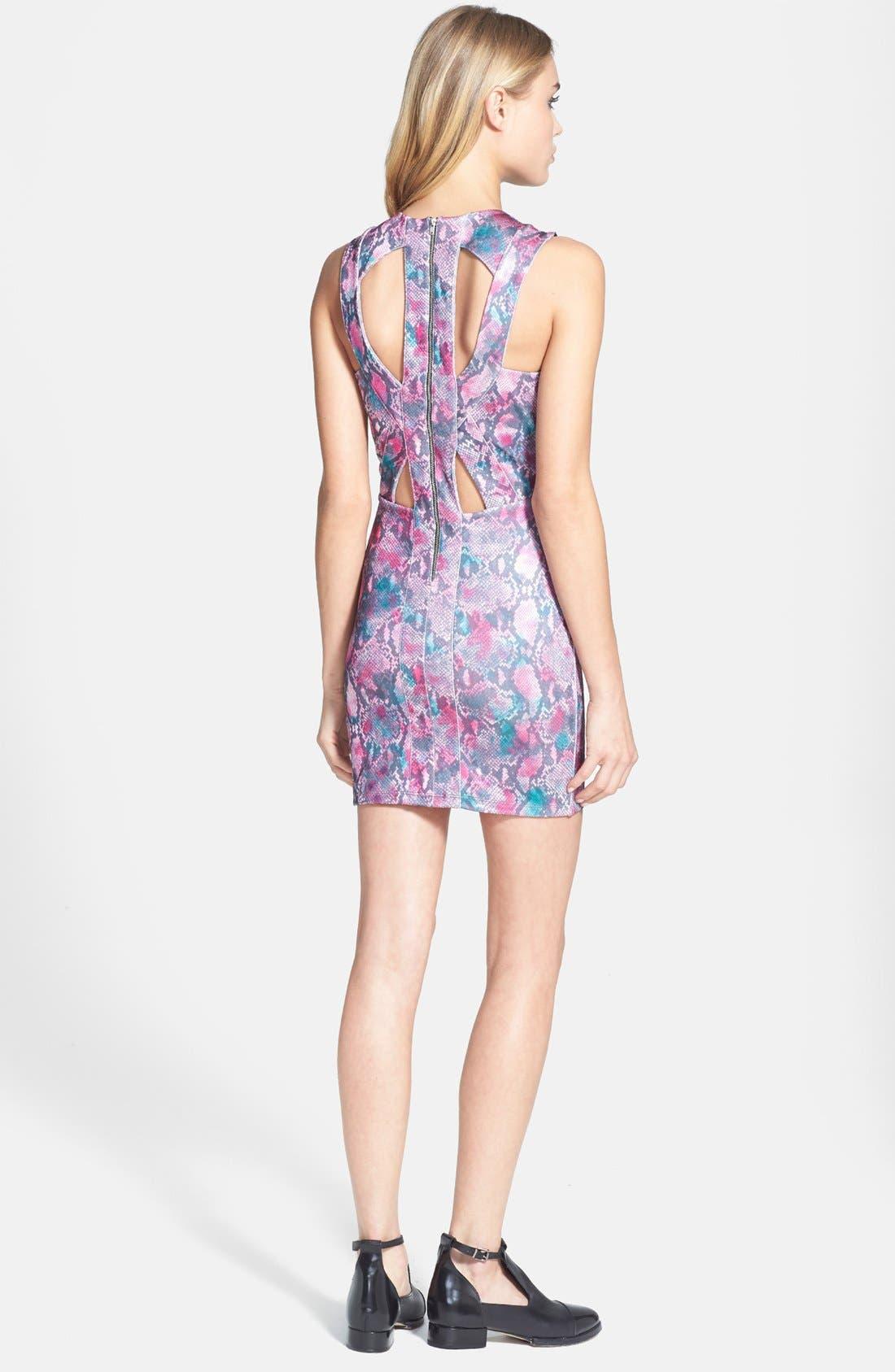 Alternate Image 2  - Topshop Snake Print Body-Con Dress