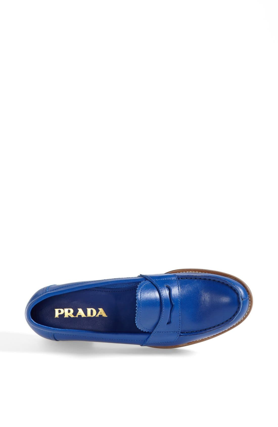 Penny Front Moccasin,                             Alternate thumbnail 3, color,                             Coblat