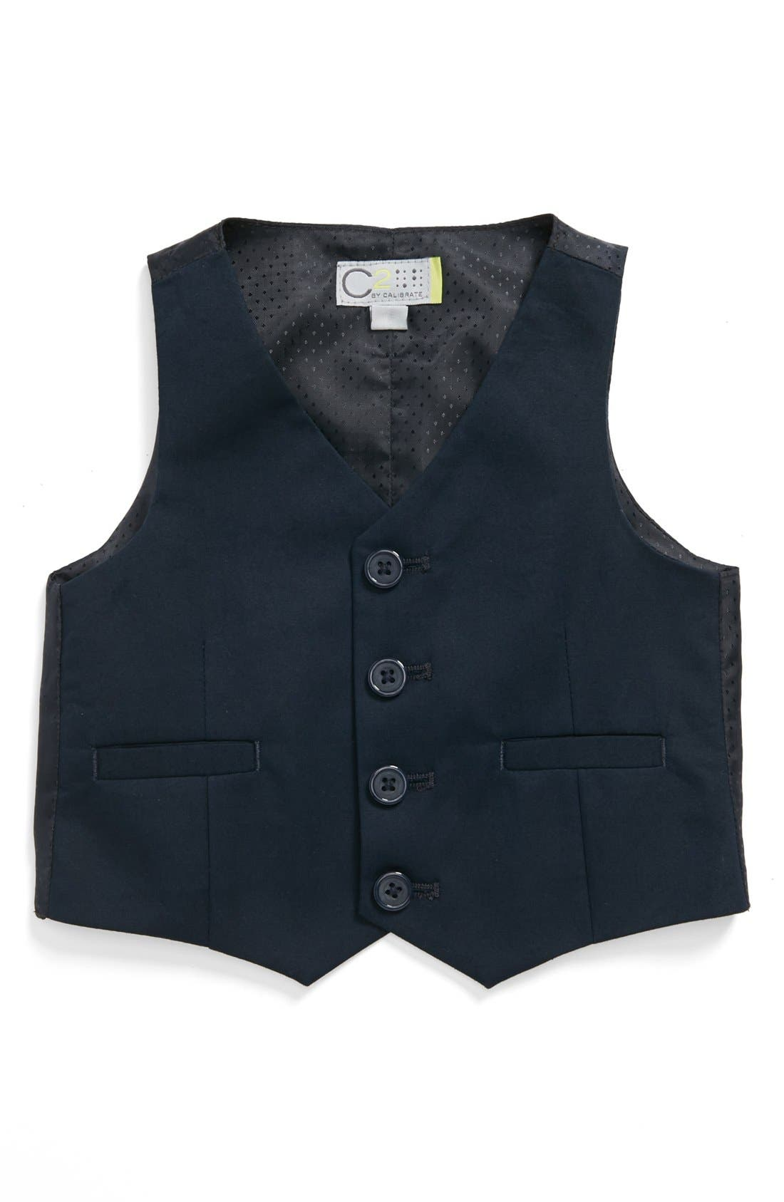 Main Image - C2 by Calibrate 'Spencer' Stretch Cotton Vest (Baby Boys)