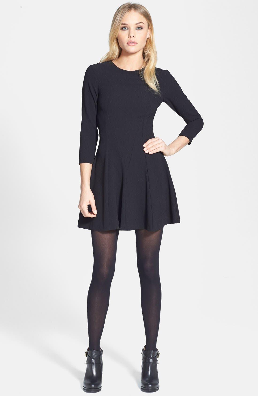 Alternate Image 1 Selected - Topshop Crepe Skater Dress