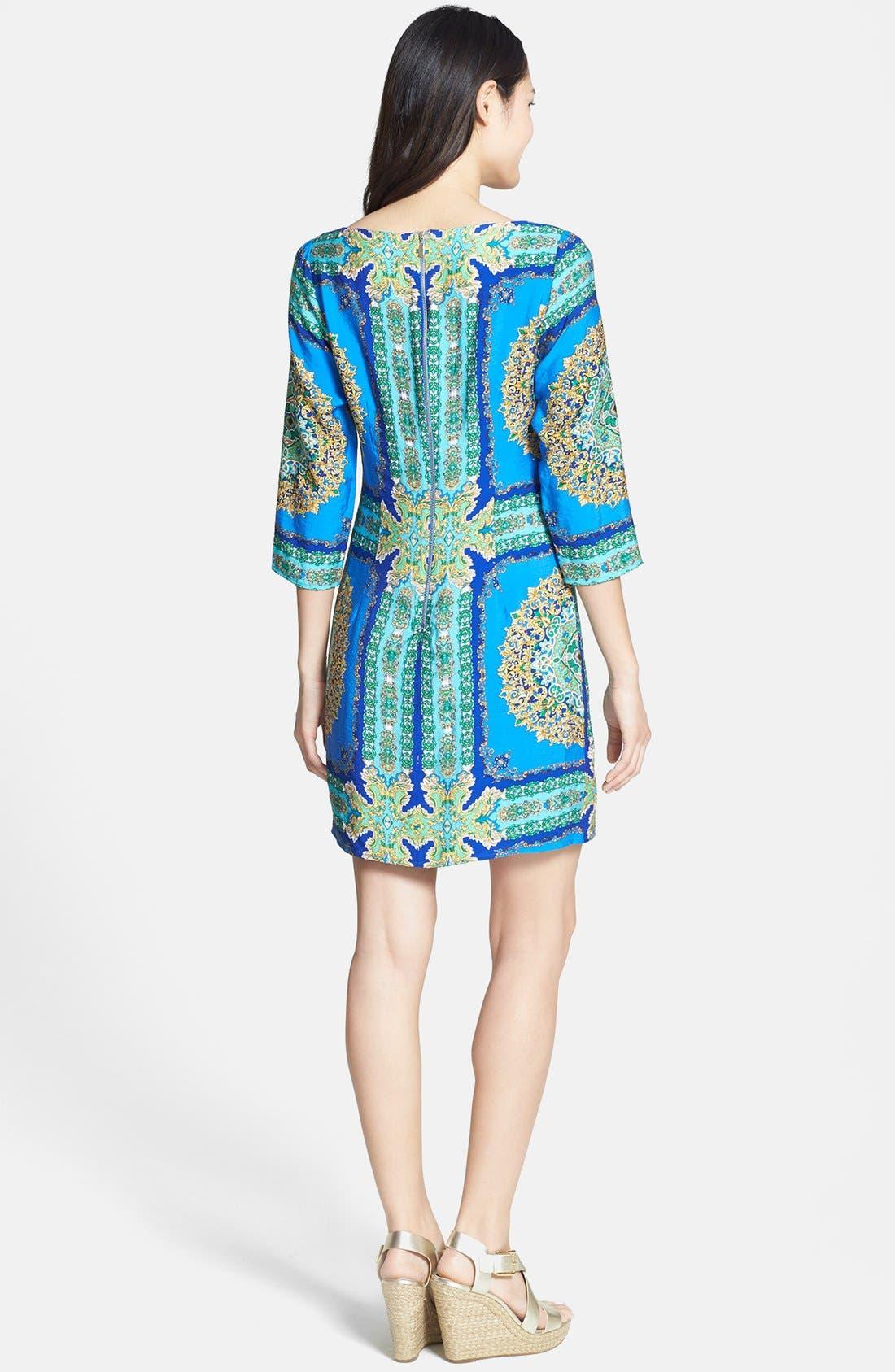 Alternate Image 3  - Laundry by Shelli Segal Print Jersey Shift Dress (Regular & Petite)