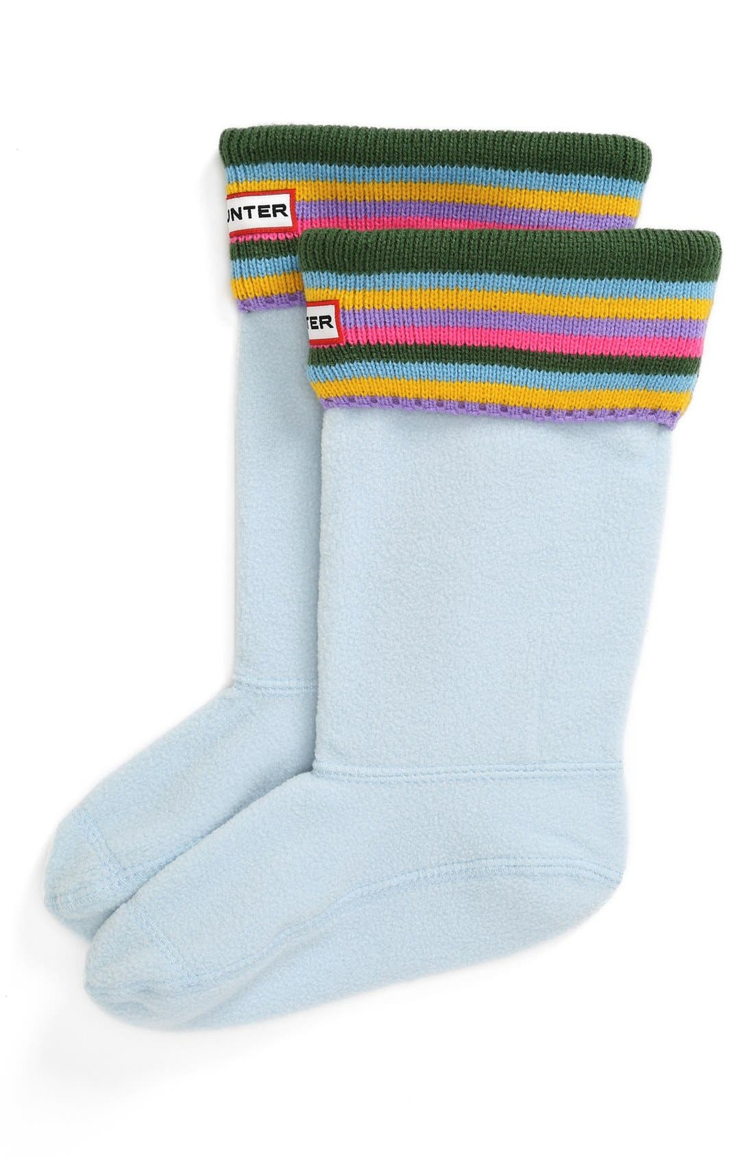 Alternate Image 1 Selected - Hunter Patterned Cuff Welly Socks (Toddler, Little Kid & Big Kid)