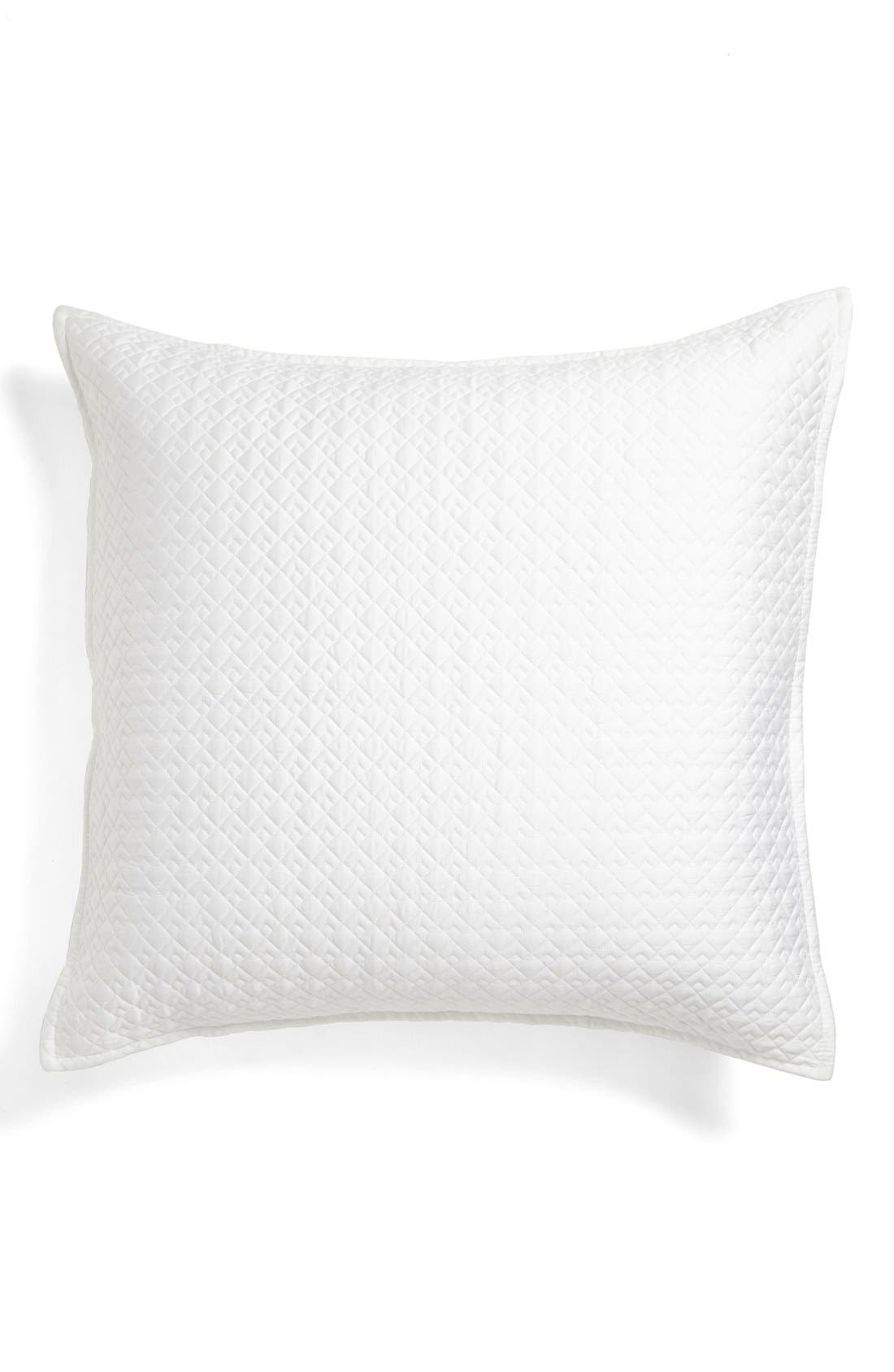 Main Image - Vera Wang 'Double Diamond' Quilted Euro Sham
