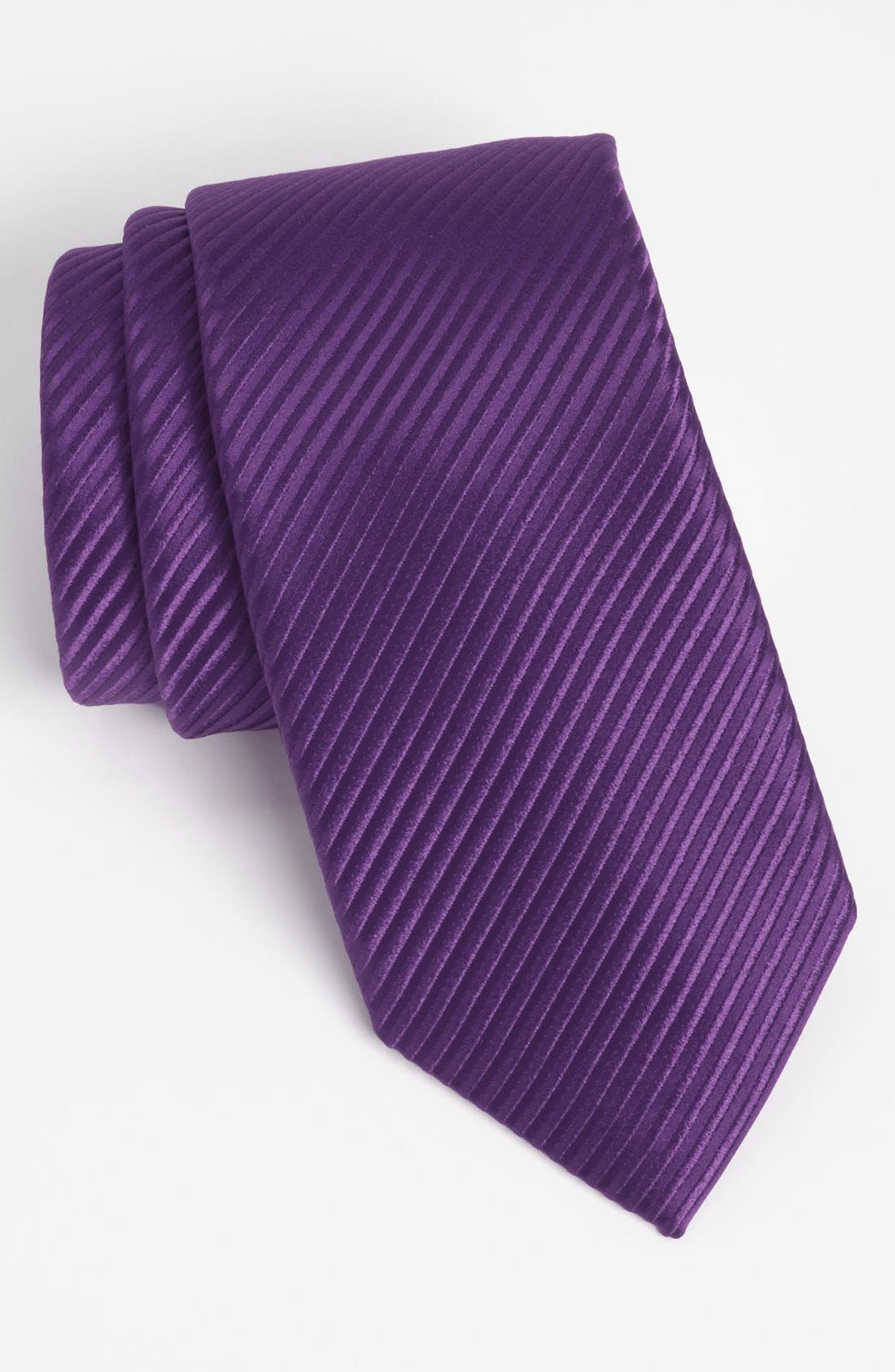 Woven Silk Tie,                         Main,                         color, Purple
