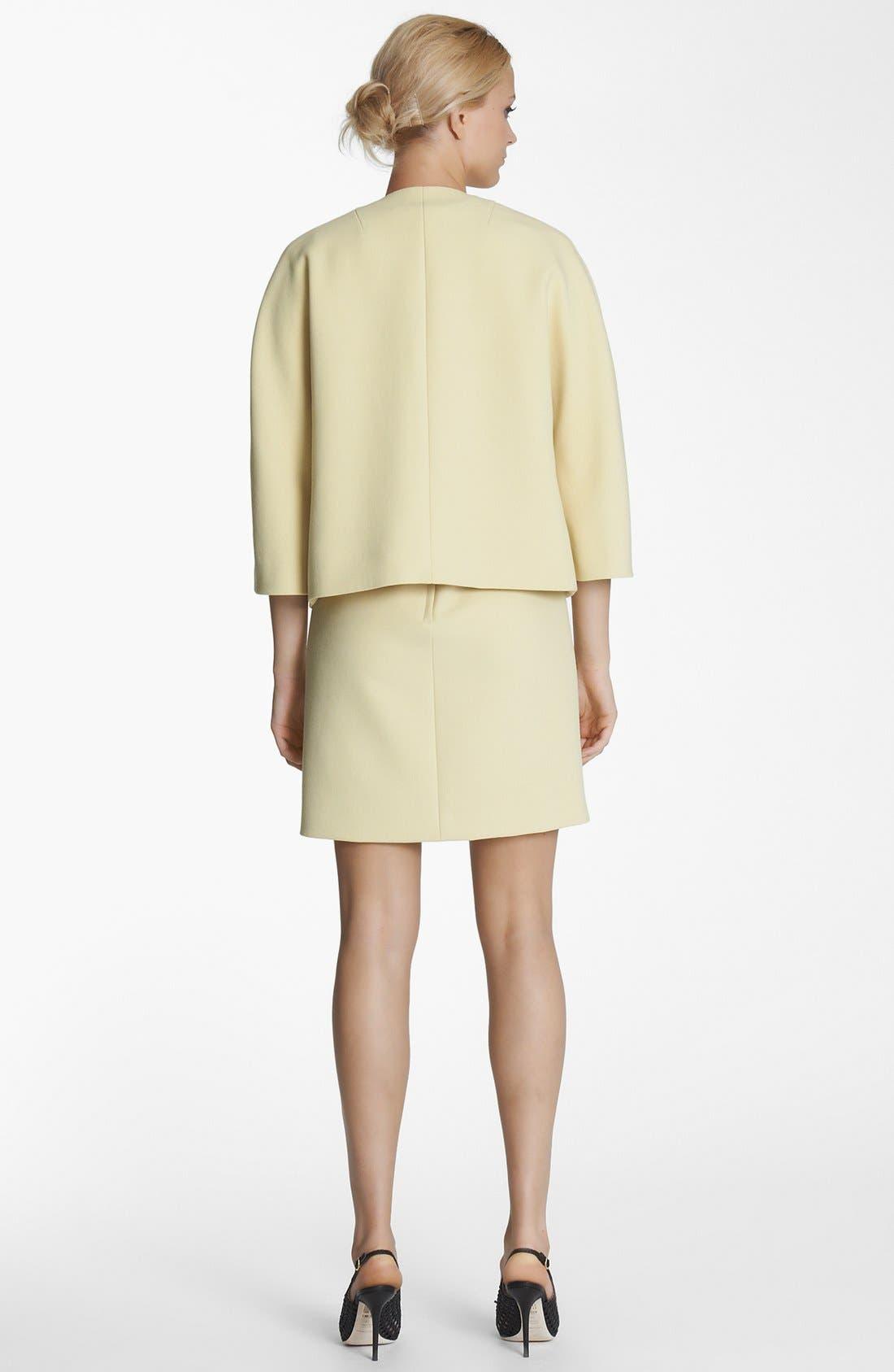 Alternate Image 2  - Dolce&Gabbana Crystal Button Crepe Jacket