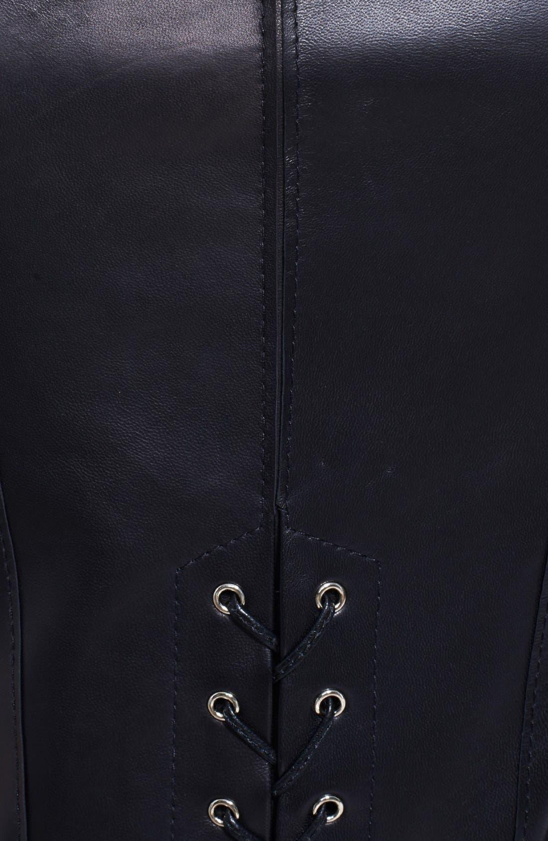 Alternate Image 3  - Jason Wu Corset Back Leather Dress