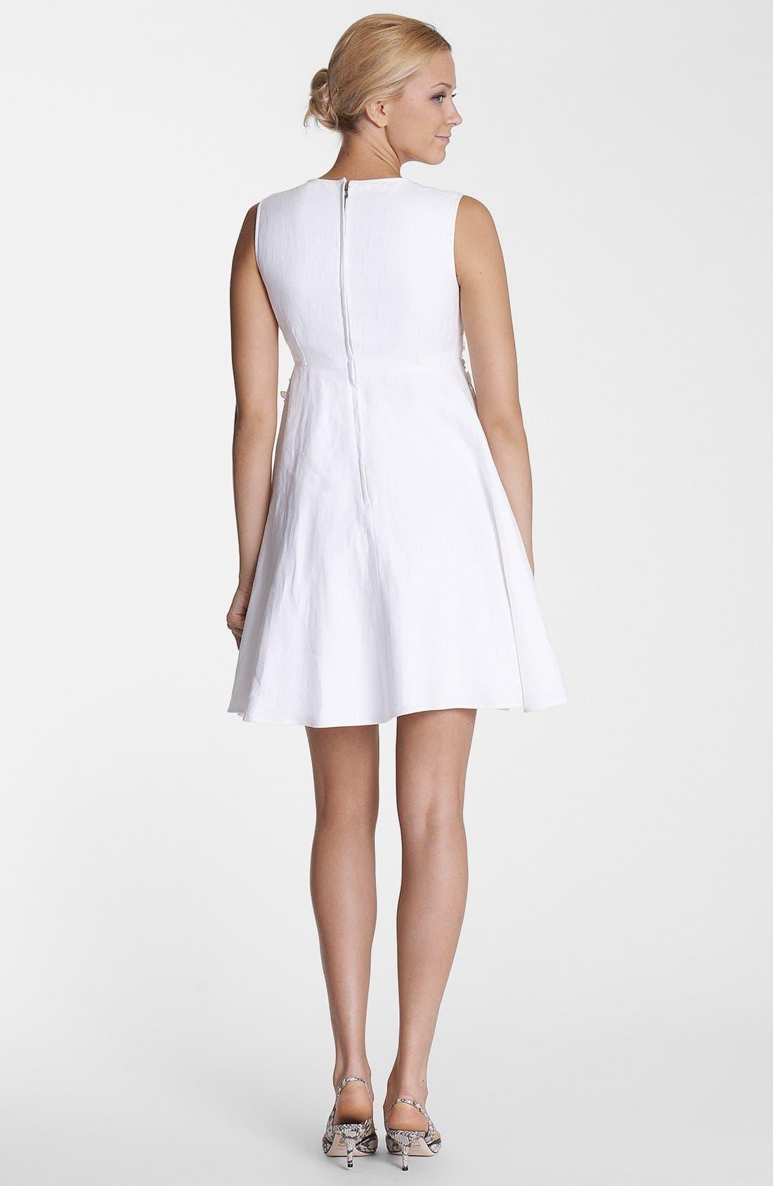 Alternate Image 2  - Dolce&Gabbana Floral Appliqué Fit & Flare Dress