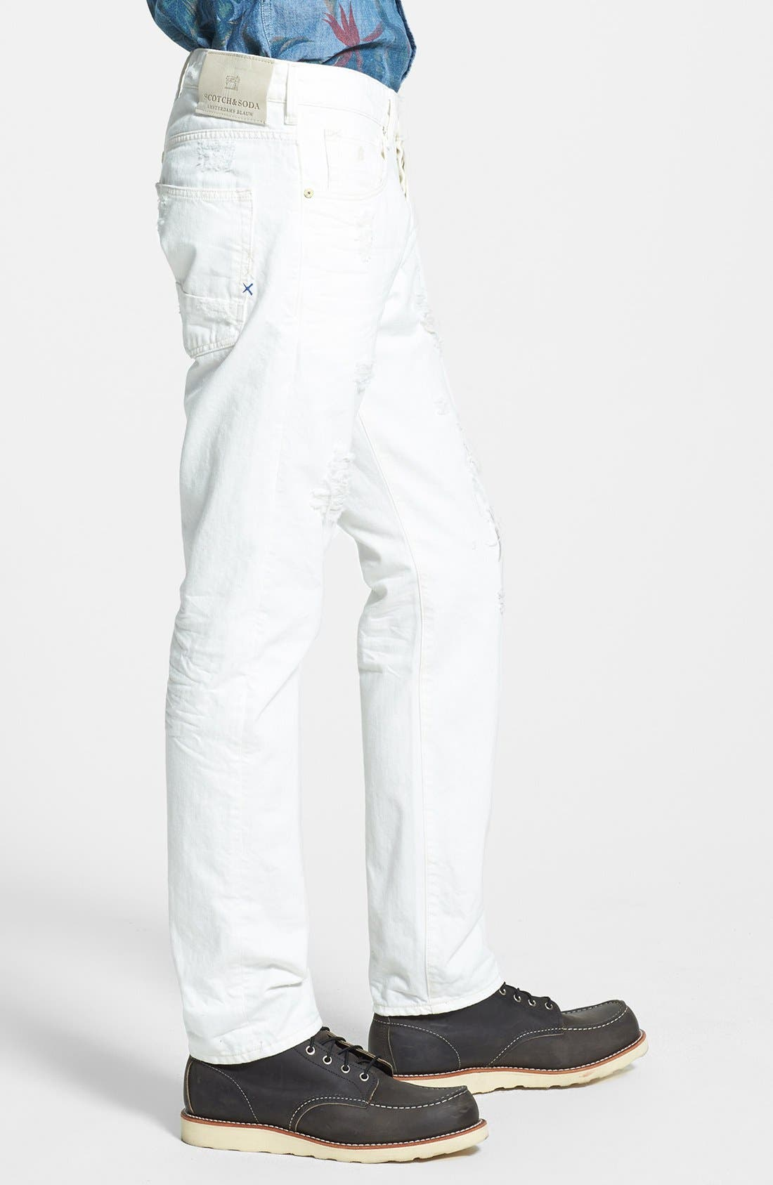 Alternate Image 3  - Scotch & Soda 'Ralston' Slim Straight Leg Jeans (Washed Out White)
