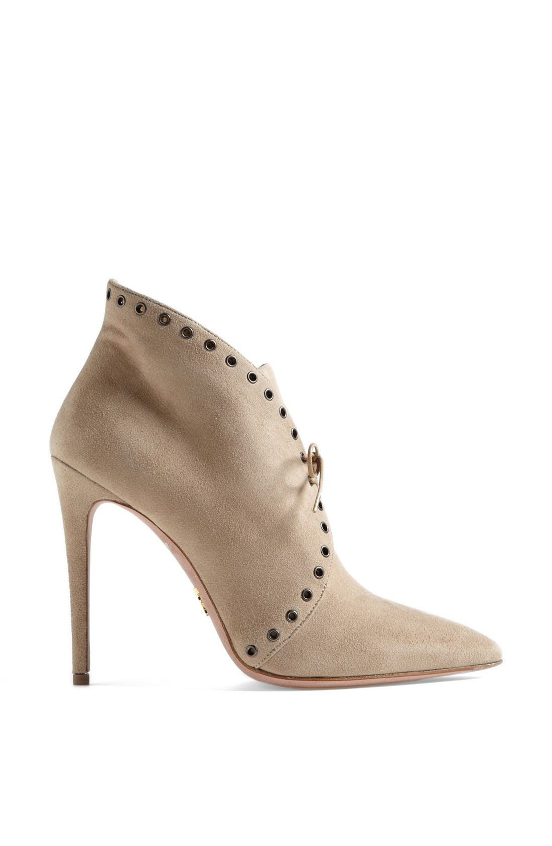 Alternate Image 3  - Prada Pointed Toe Lace Front Bootie