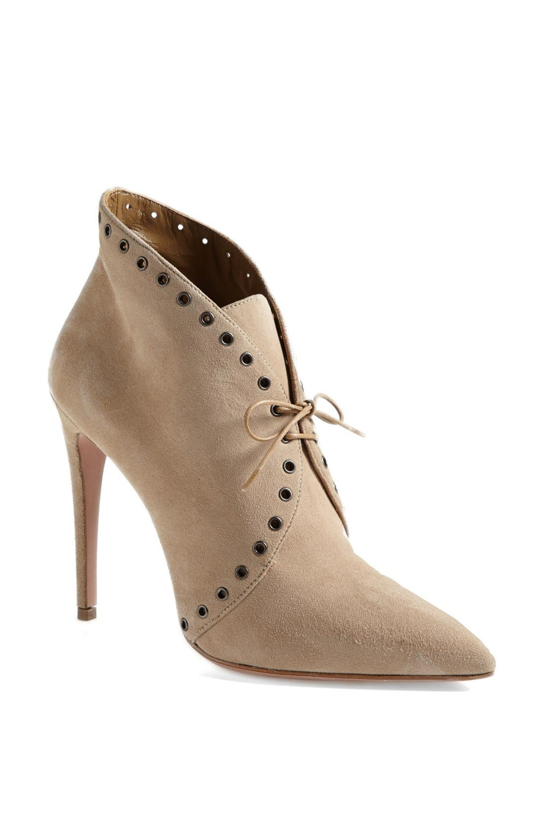 Main Image - Prada Pointed Toe Lace Front Bootie