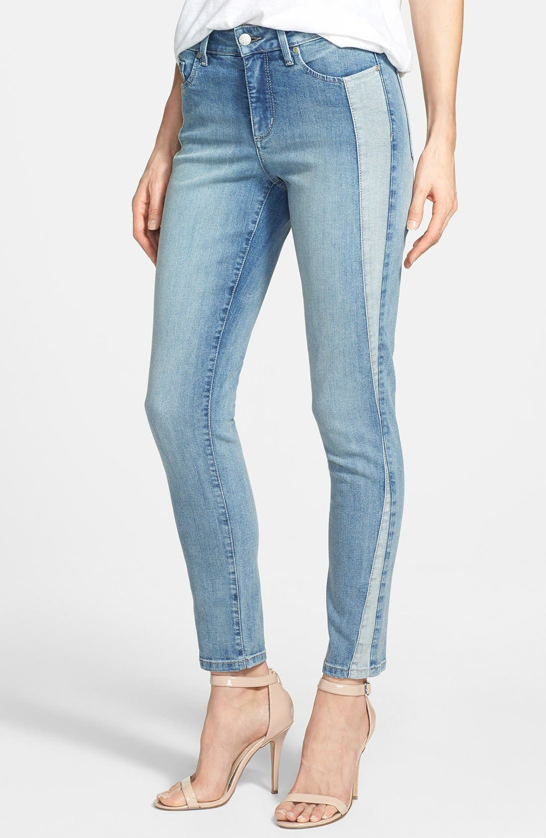 Alternate Image 1 Selected - NYDJ 'Annalynn' Side Inset Stretch Skinny Jeans (Stockton) (Regular & Petite)