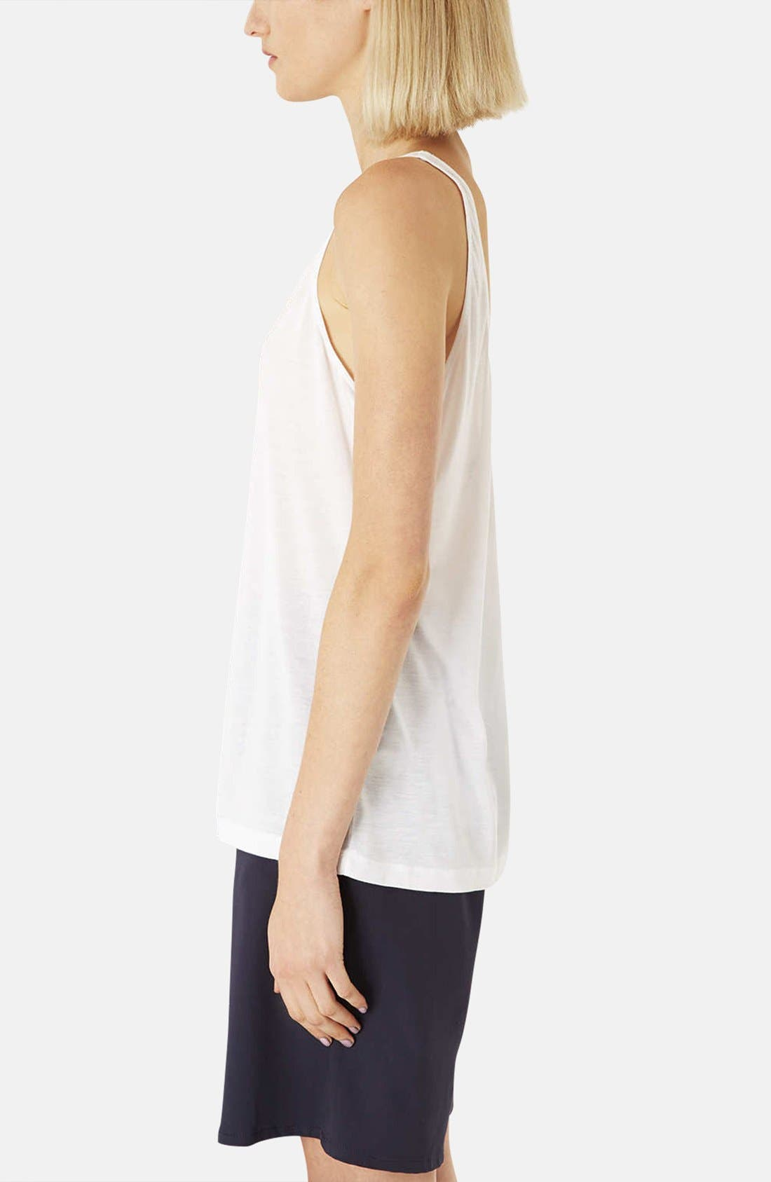 Alternate Image 4  - Topshop Boutique Relaxed Modal & Cashmere Tank