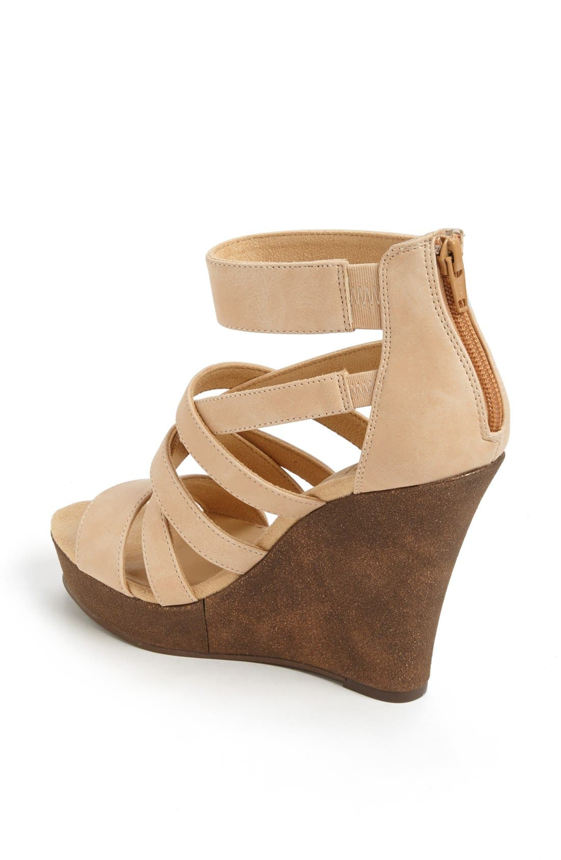 'Tell You What' Wedge Sandal,                             Alternate thumbnail 2, color,                             Nude