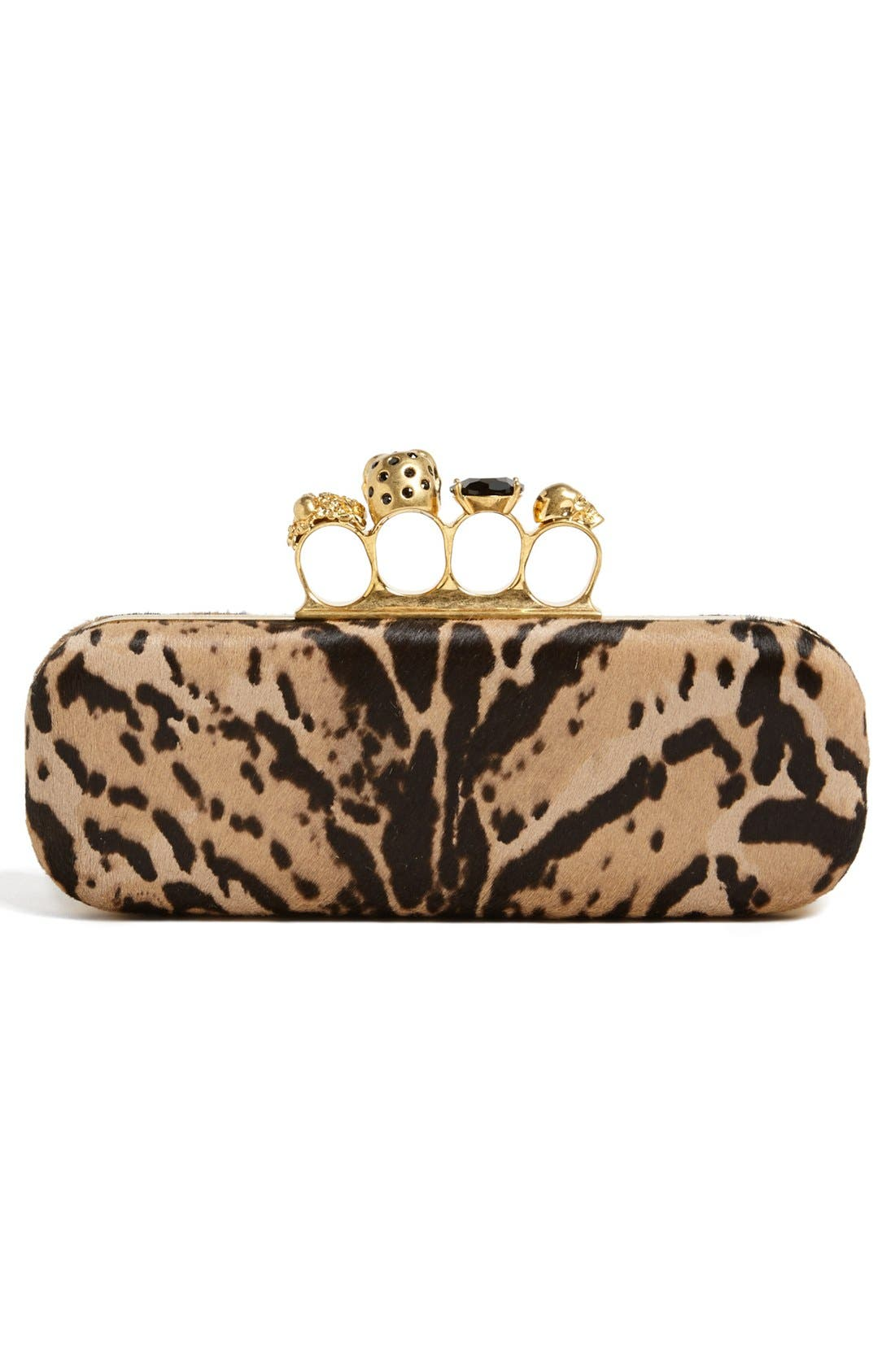 Alternate Image 3  - Alexander McQueen 'Knucklebox' Leopard Print Calf Hair Clutch