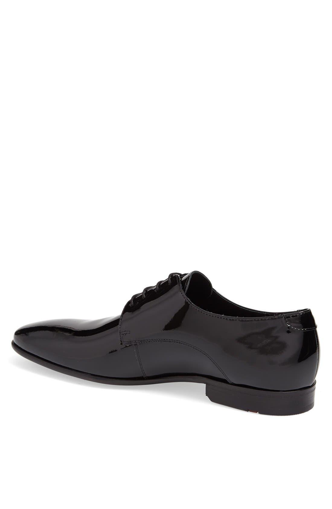 'Jerez' Plain Toe Derby,                             Alternate thumbnail 2, color,                             Black Patent