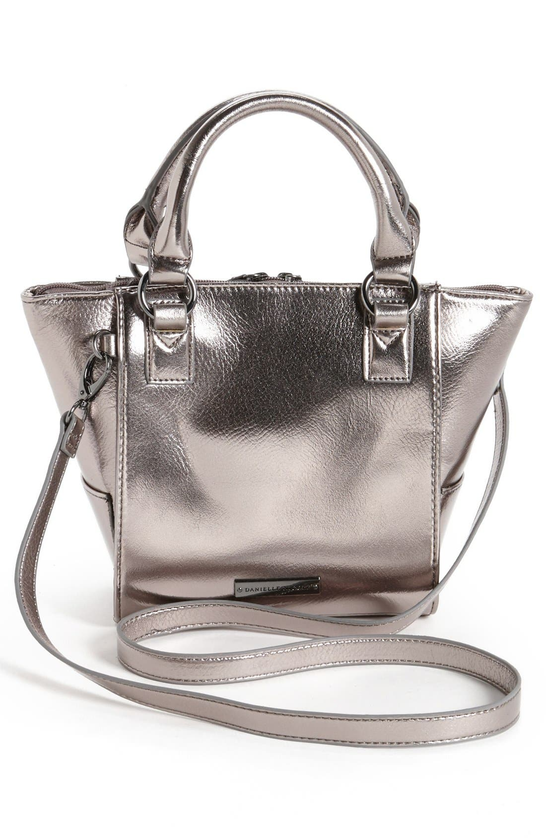 'Alexa - Mini' Crossbody Bag,                             Alternate thumbnail 4, color,                             Gunmetal