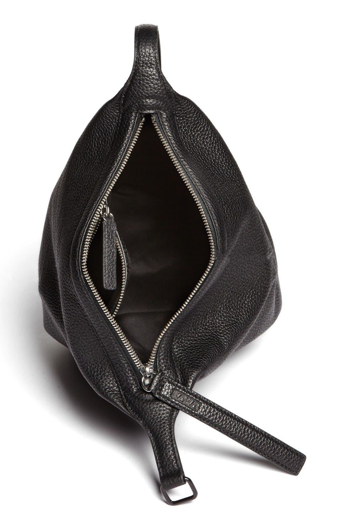 Alternate Image 3  - Kara 'Dry - Small' Convertible Pebbled Leather Bucket Bag, Small
