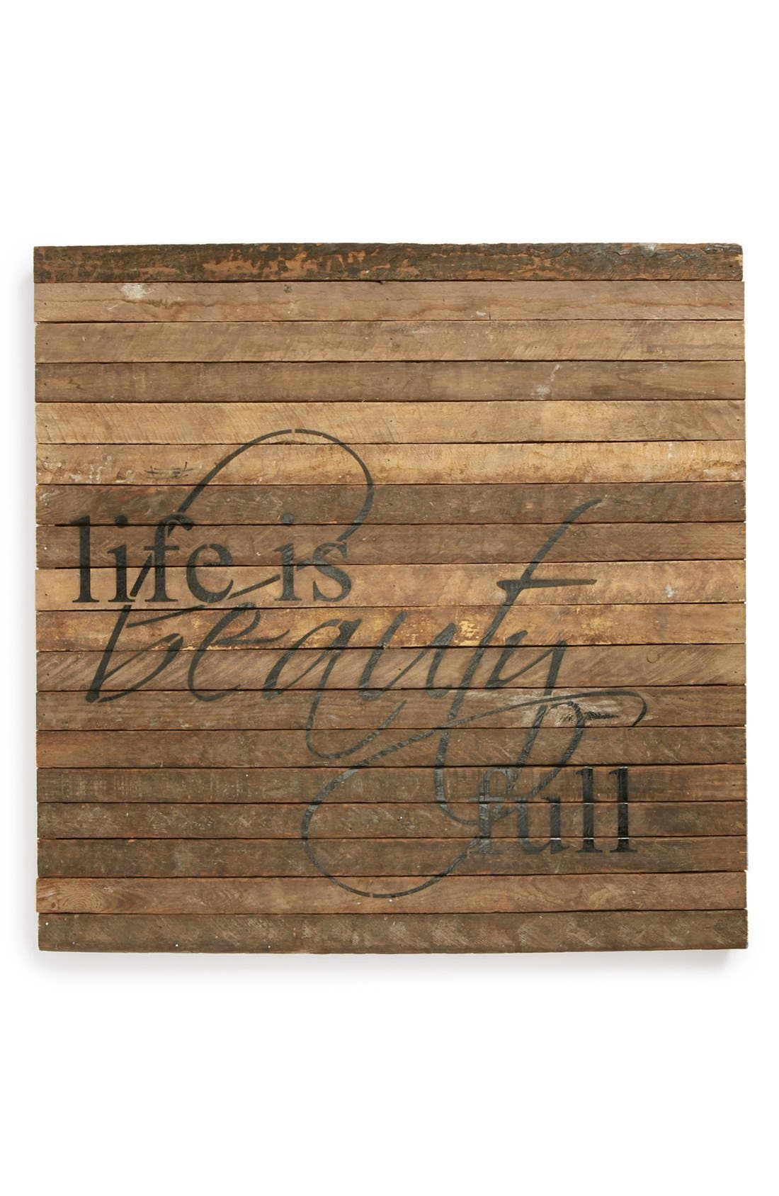 Main Image - Second Nature by Hand 'Life Is Beauty Full' Repurposed Wood Wall Art