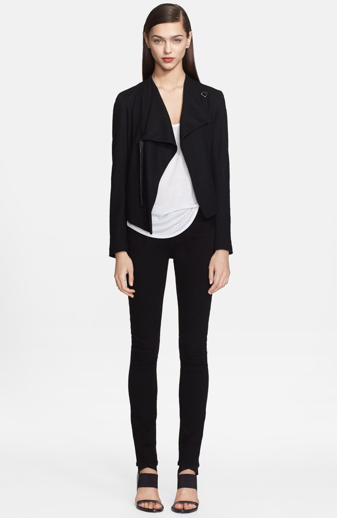 Alternate Image 1 Selected - Helmut Lang 'Sonar Wool' Drape Front Jacket