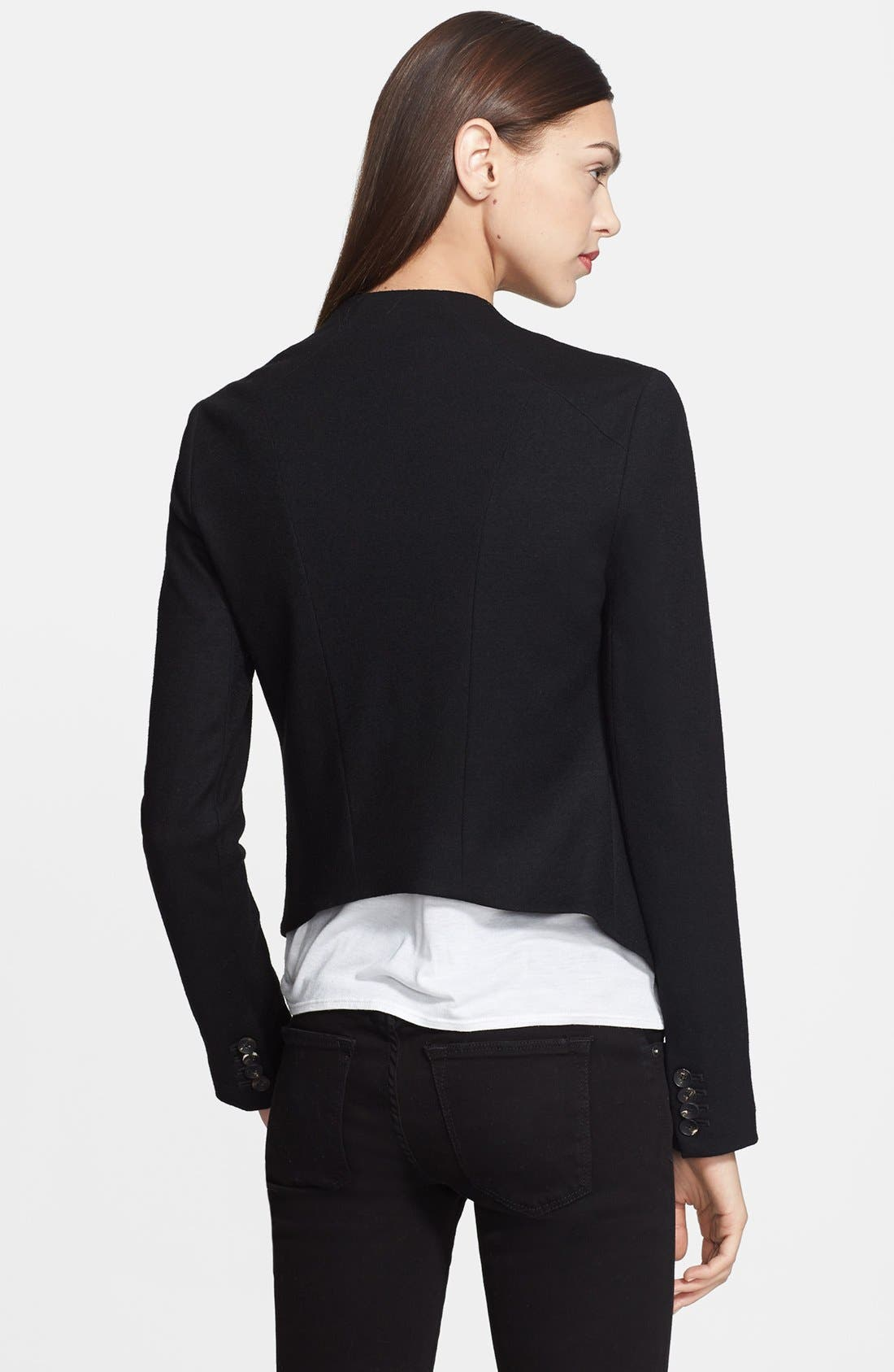 Alternate Image 2  - Helmut Lang 'Sonar Wool' Drape Front Jacket