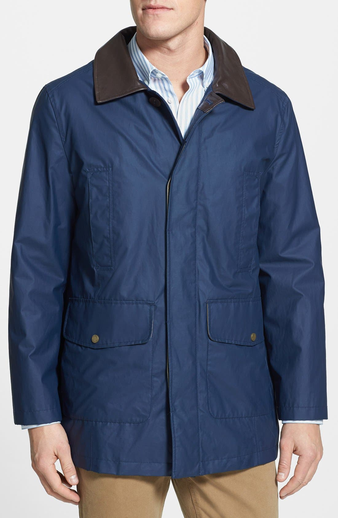 Alternate Image 1 Selected - Cole Haan Coated Barn Jacket