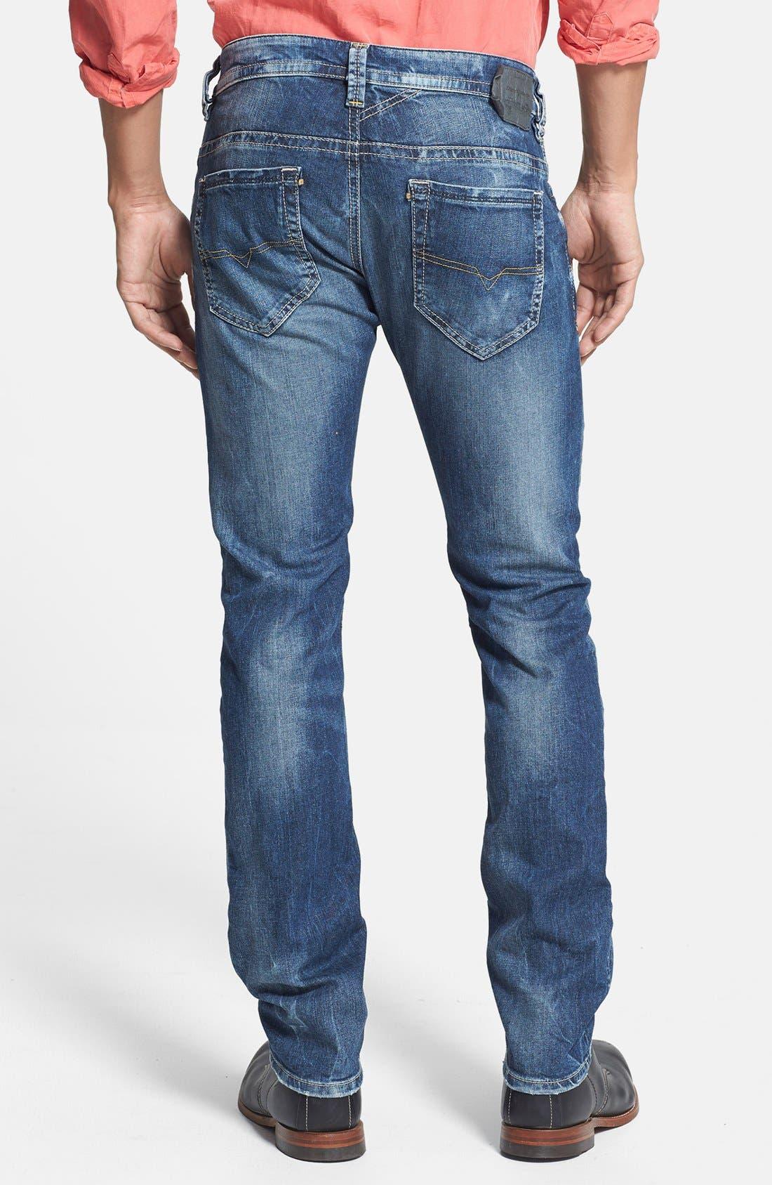 Alternate Image 2  - DIESEL® 'Thavar' Skinny Fit Jeans (827I)