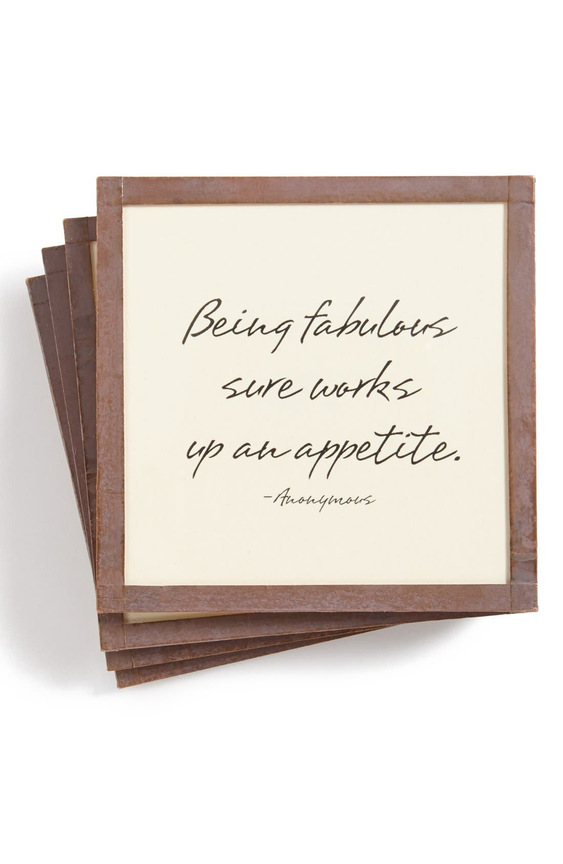 Alternate Image 1 Selected - Ben's Garden 'Being Fabulous' Coasters (Set of 4)