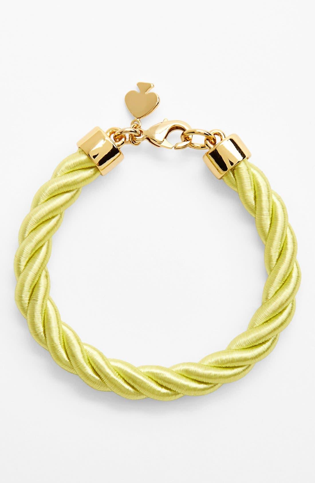Alternate Image 1 Selected - kate spade new york 'learn the ropes' cord bracelet