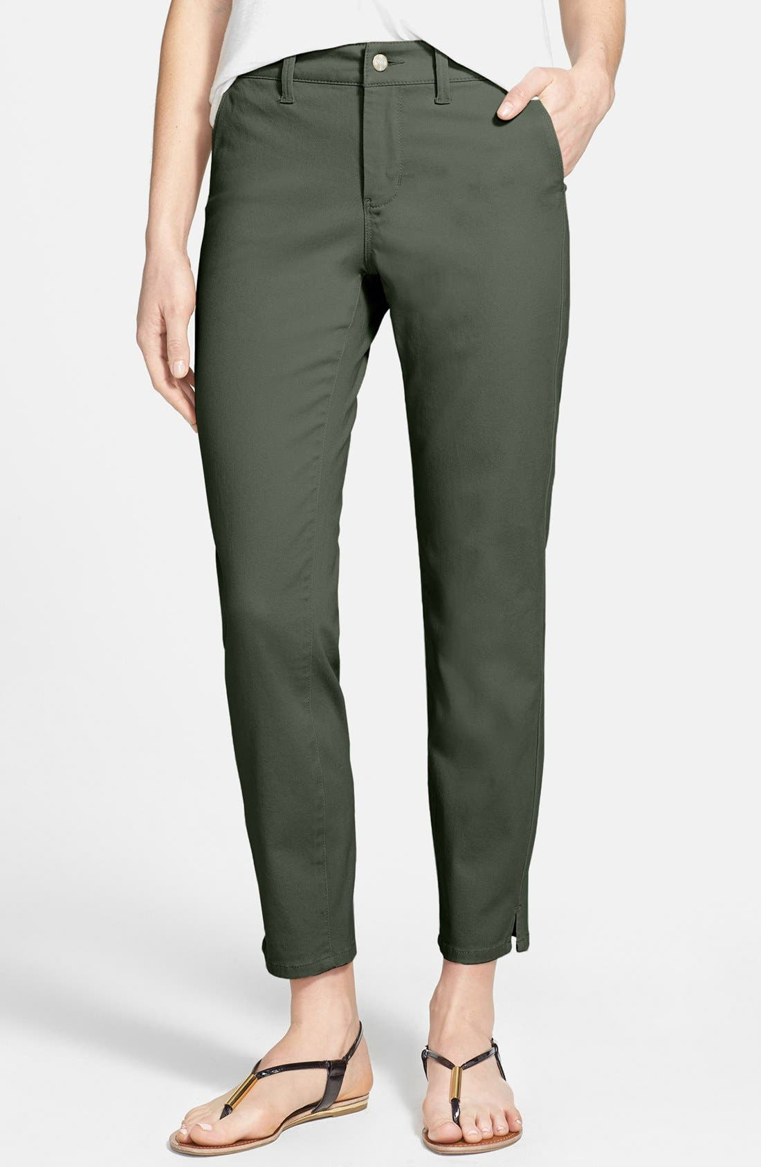 Main Image - NYDJ 'Aileen' Colored Stretch Ankle Trouser Jeans (Petite)