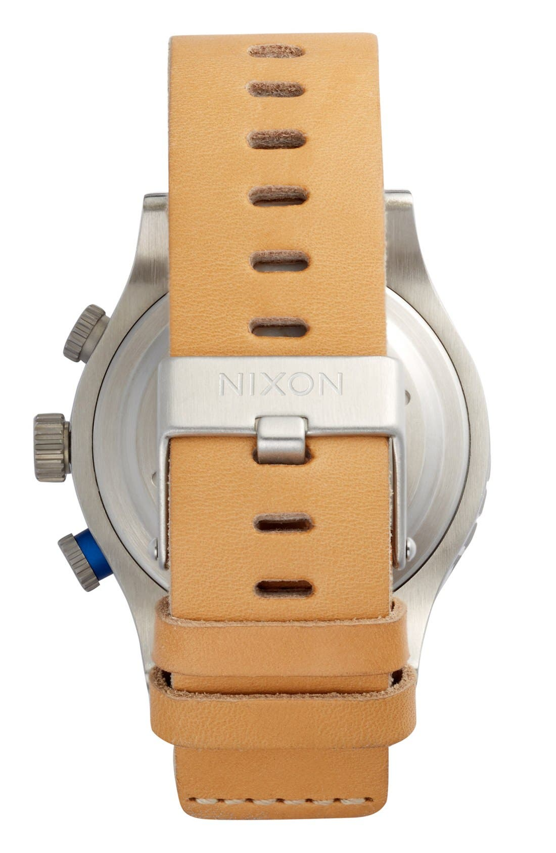 Alternate Image 2  - Nixon 'The 48-20' Chronograph Leather Strap Watch, 48mm