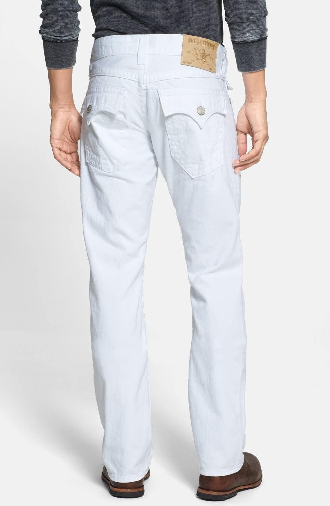 Alternate Image 1 Selected - True Religion Brand Jeans 'Ricky' Relaxed Fit Jeans (Optic White)
