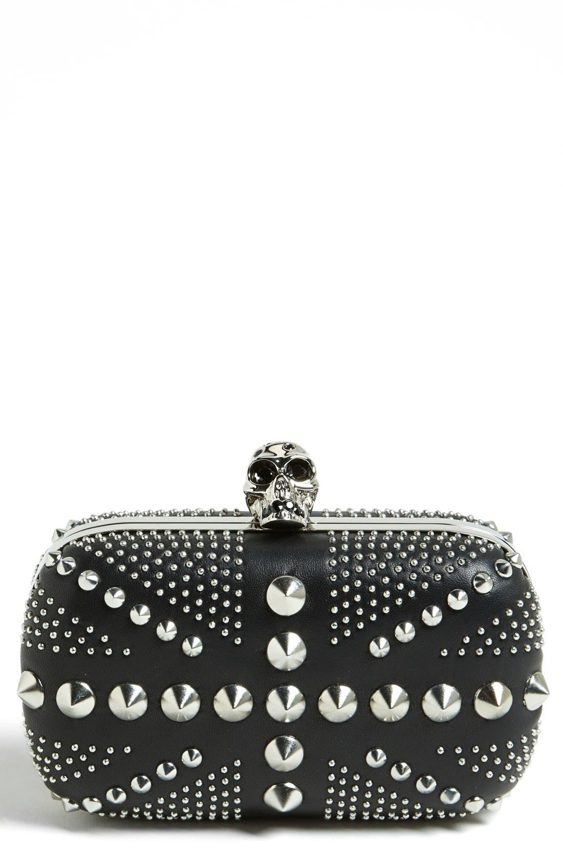 Alternate Image 1 Selected - Alexander McQueen 'Britannia' Studded Skull Clutch
