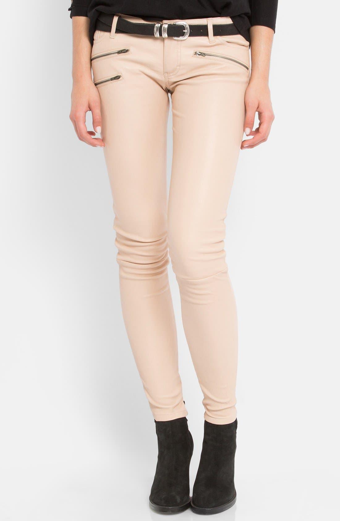 Main Image - maje 'Daft' Leather Pants