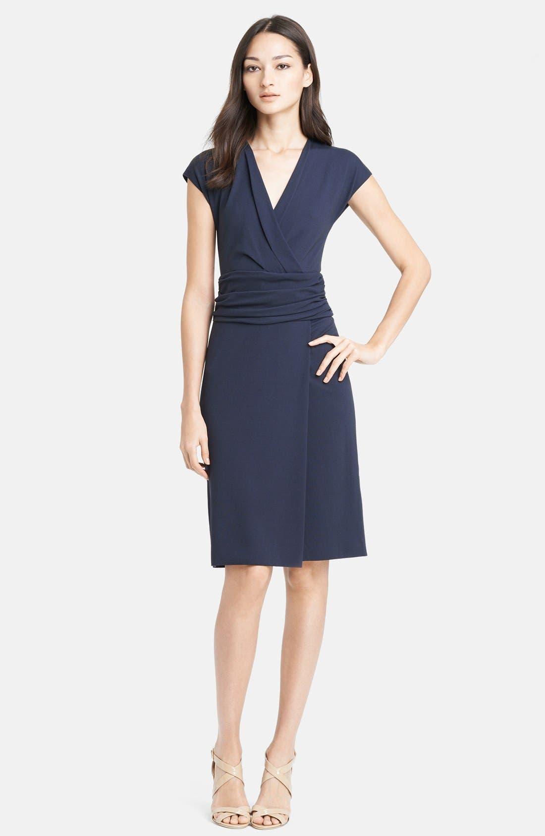 Main Image - Armani Collezioni Ruched Waist Matte Jersey Dress