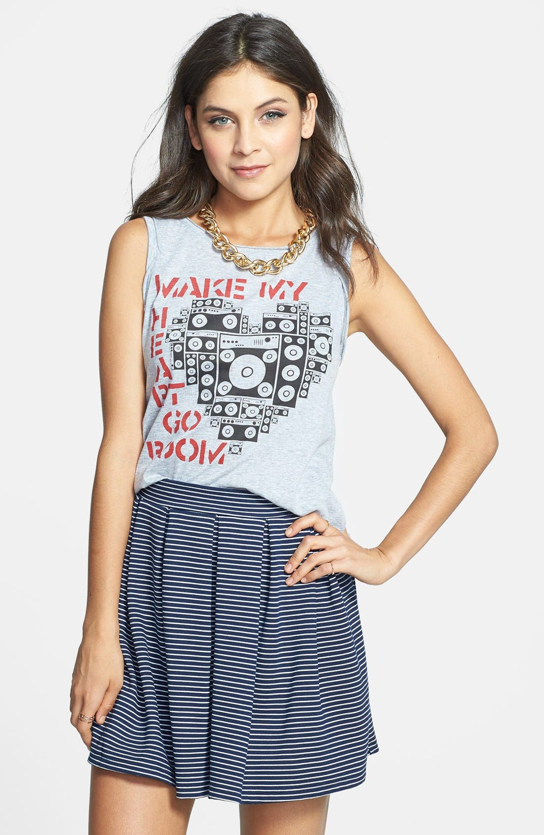 Alternate Image 1 Selected - Project Social T 'Heart Go Boom' Tank (Juniors) (Online Only)