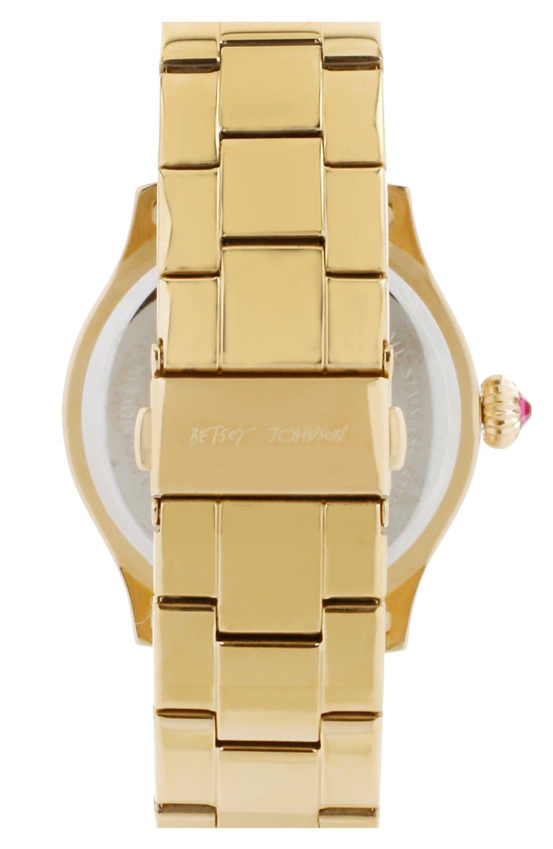 Alternate Image 2  - Betsey Johnson Pavé Case Bracelet Watch, 41mm