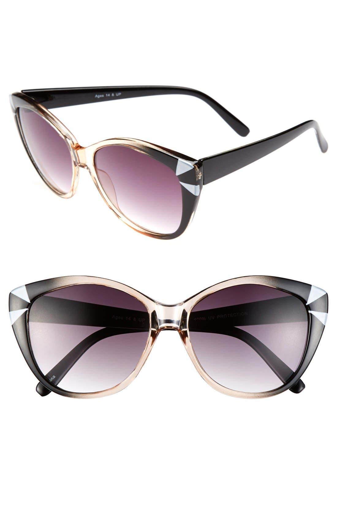 Alternate Image 1 Selected - FE NY 'Retrospective' 55mm Cat Eye Sunglasses