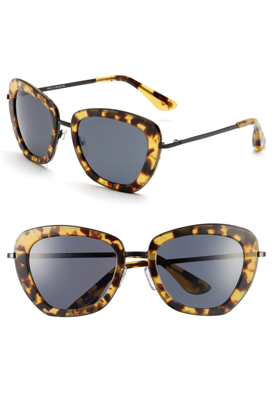Main Image - Isaac Mizrahi New York 53mm Geometric Sunglasses