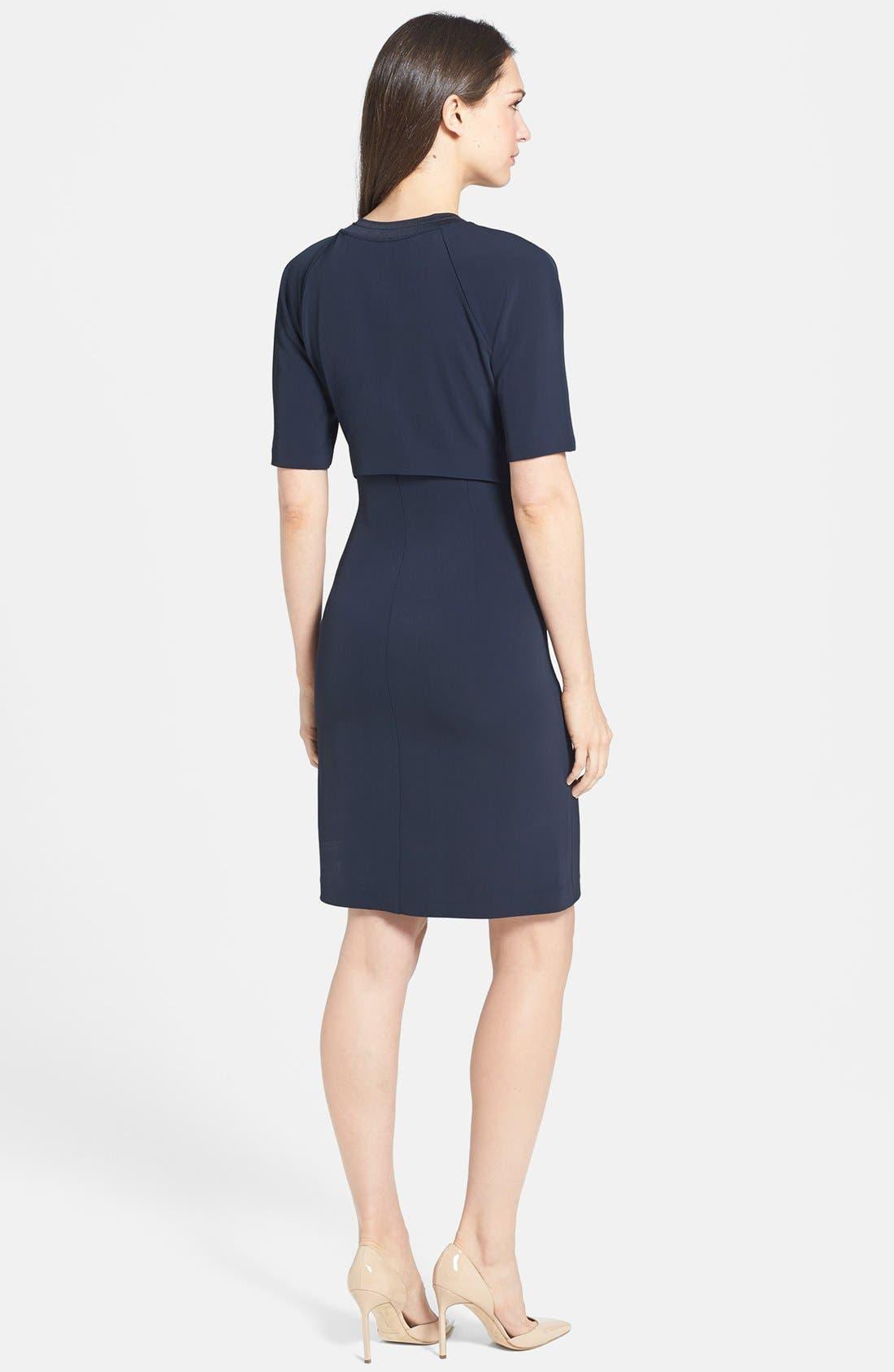 Alternate Image 2  - Theory 'Tolland W.' Jersey Sheath Dress