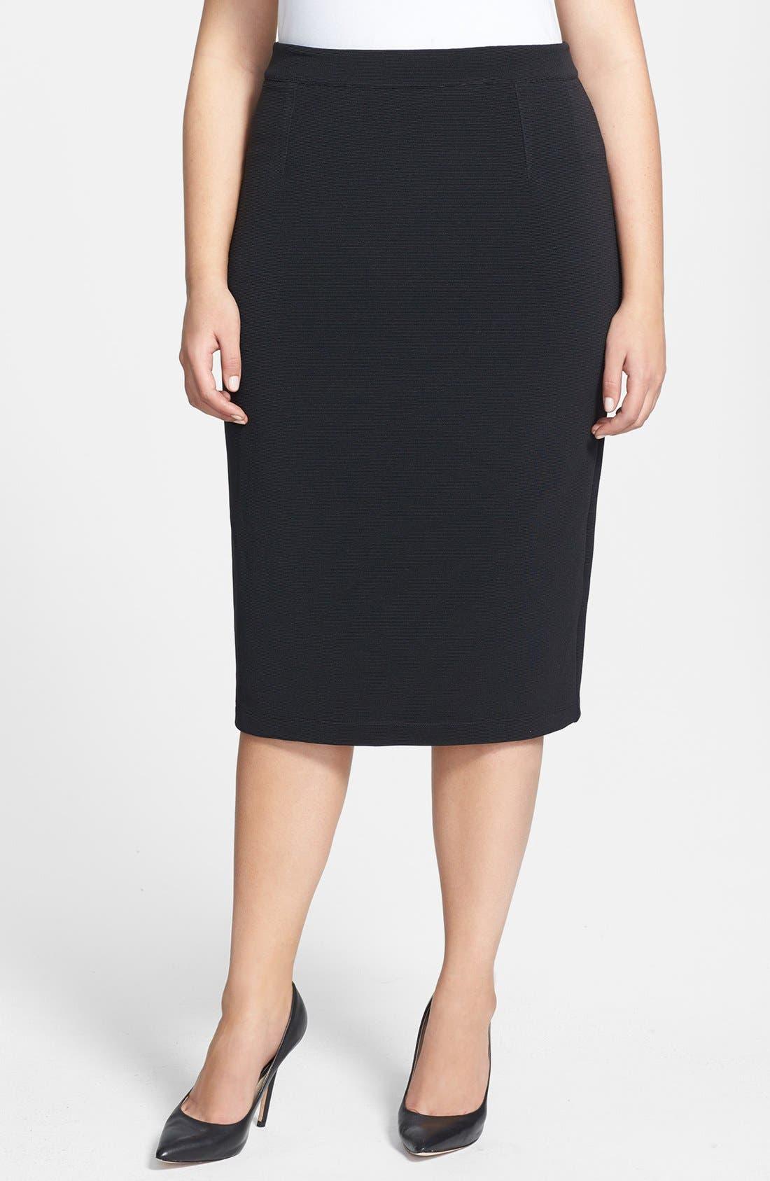 Main Image - Halogen® Pencil Skirt (Plus Size)