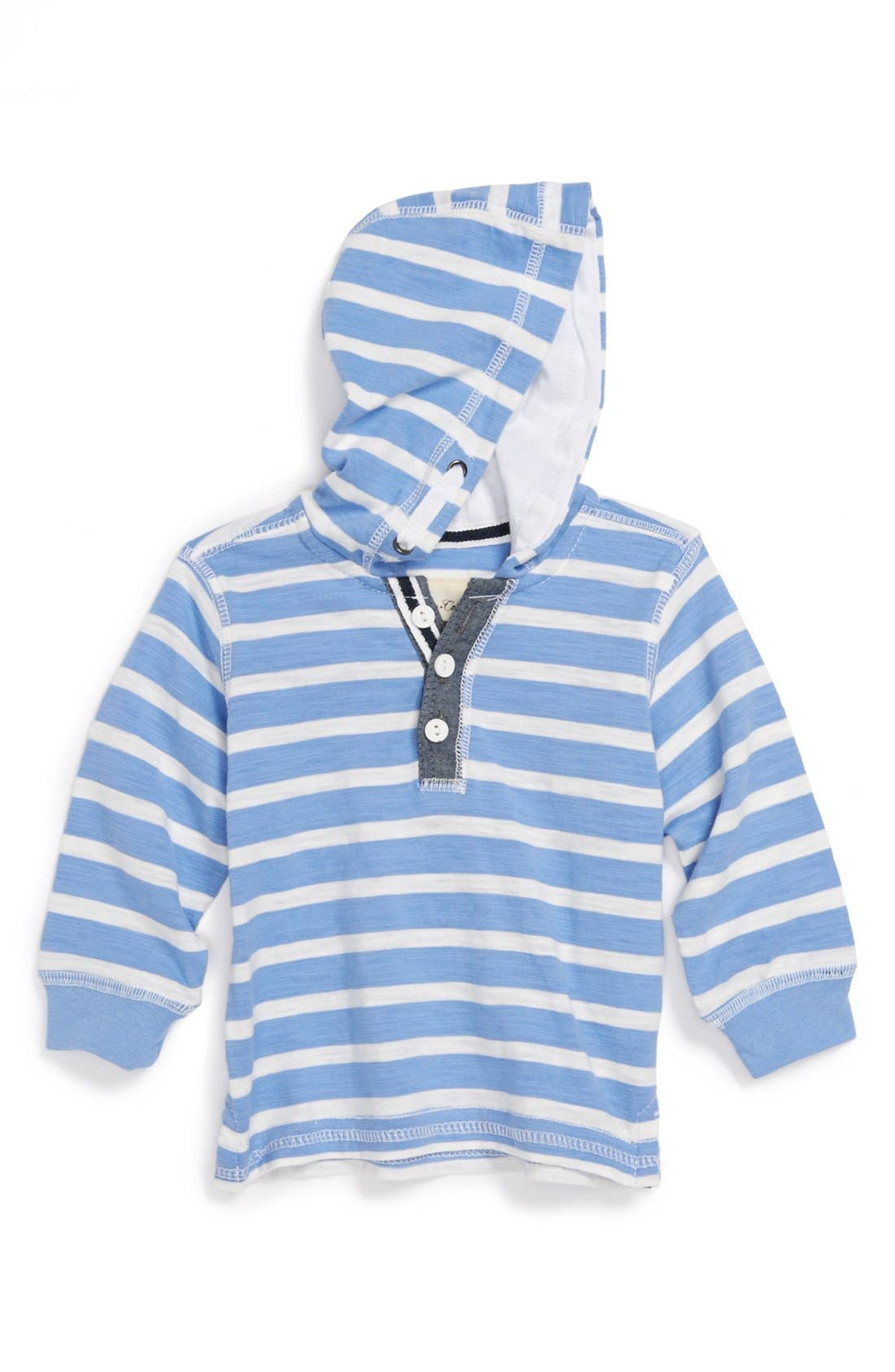Alternate Image 1 Selected - Sovereign Code 'Anarchy' Chambray Trimmed Hoodie (Toddler Boys)