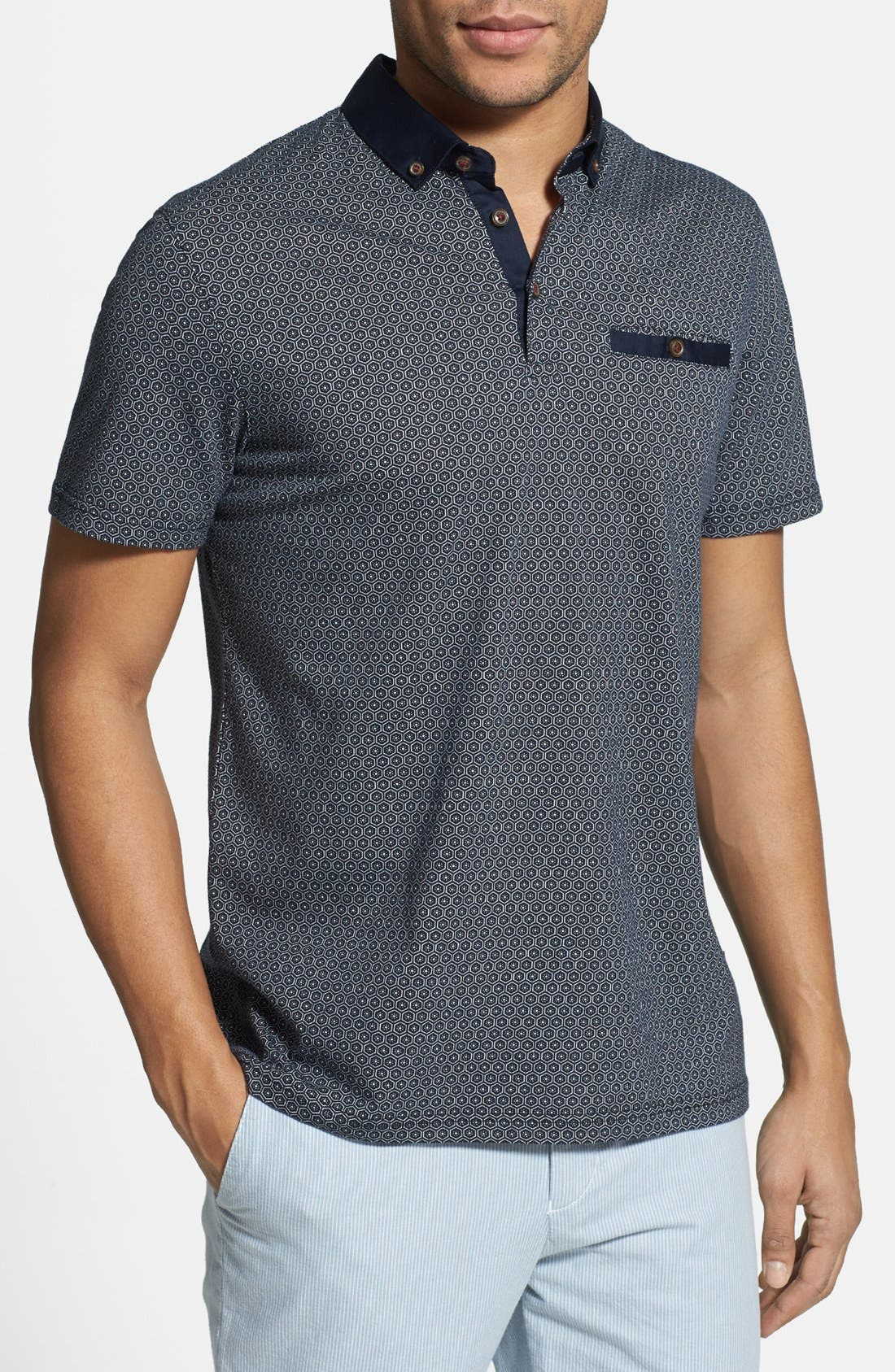 Alternate Image 1 Selected - Ted Baker London 'Elwhite' Graphic Print Polo