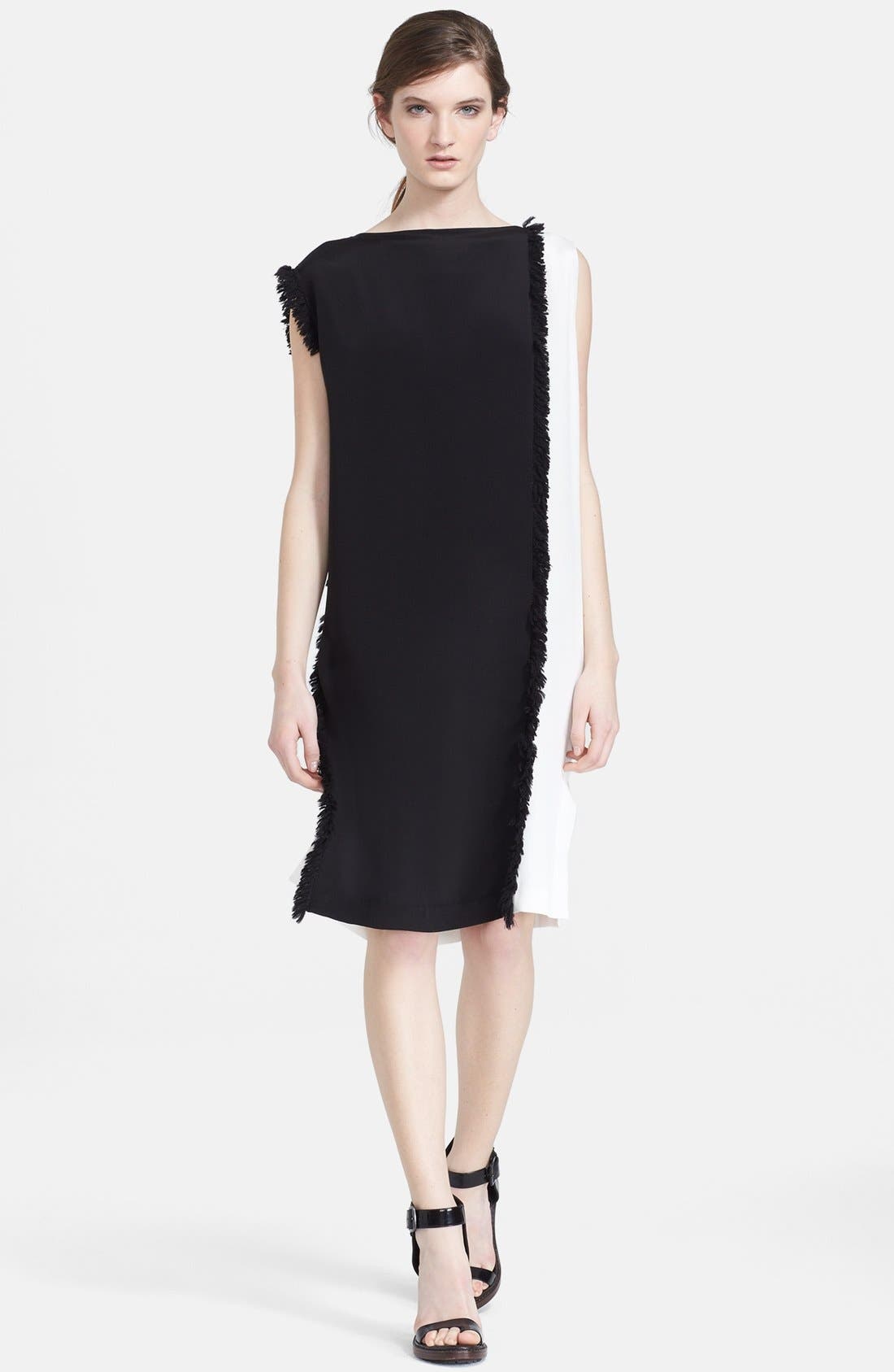 Alternate Image 1 Selected - 3.1 Philip Lim Colorblock Stretch Silk Shift Dress