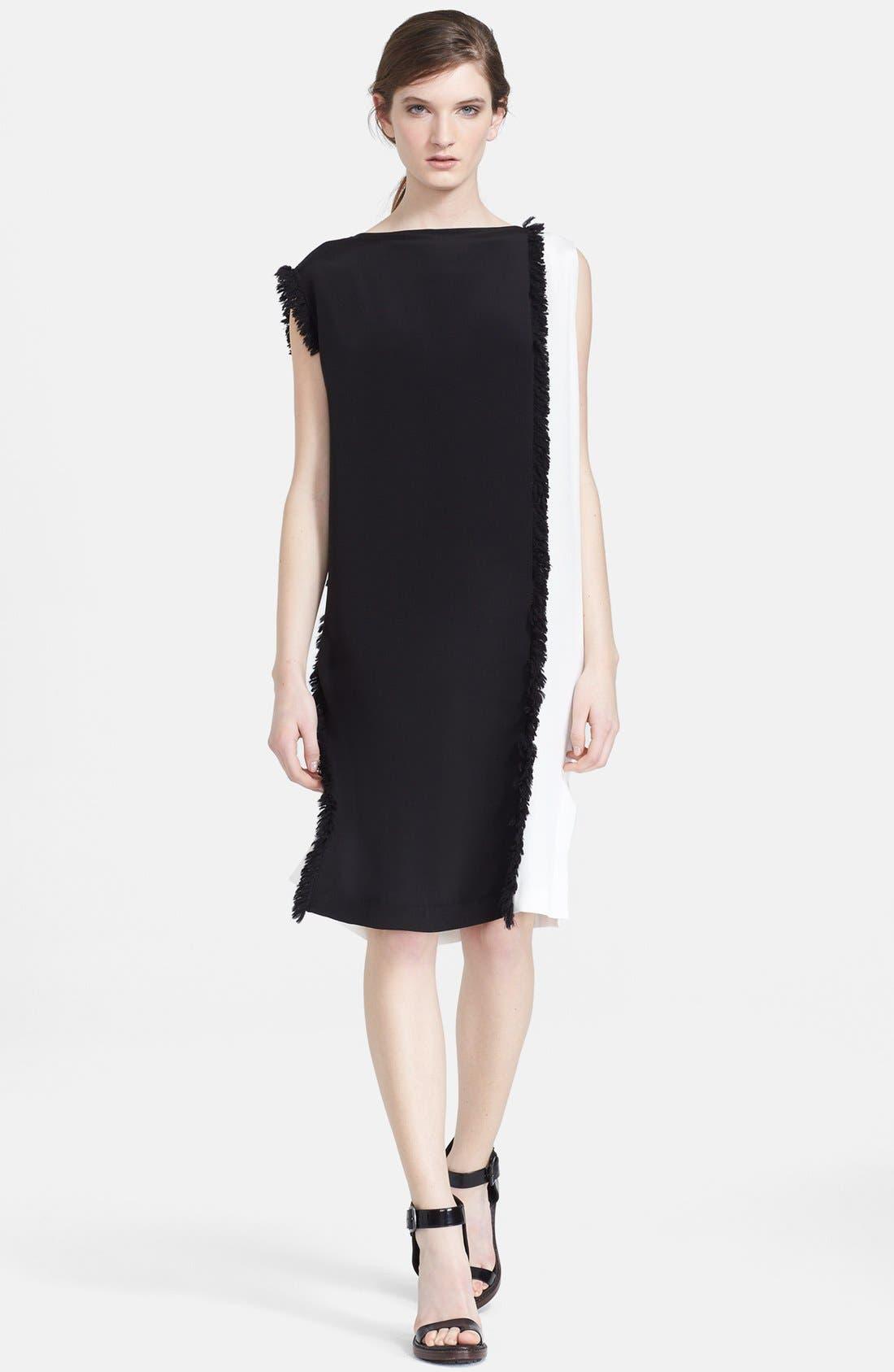 Main Image - 3.1 Philip Lim Colorblock Stretch Silk Shift Dress