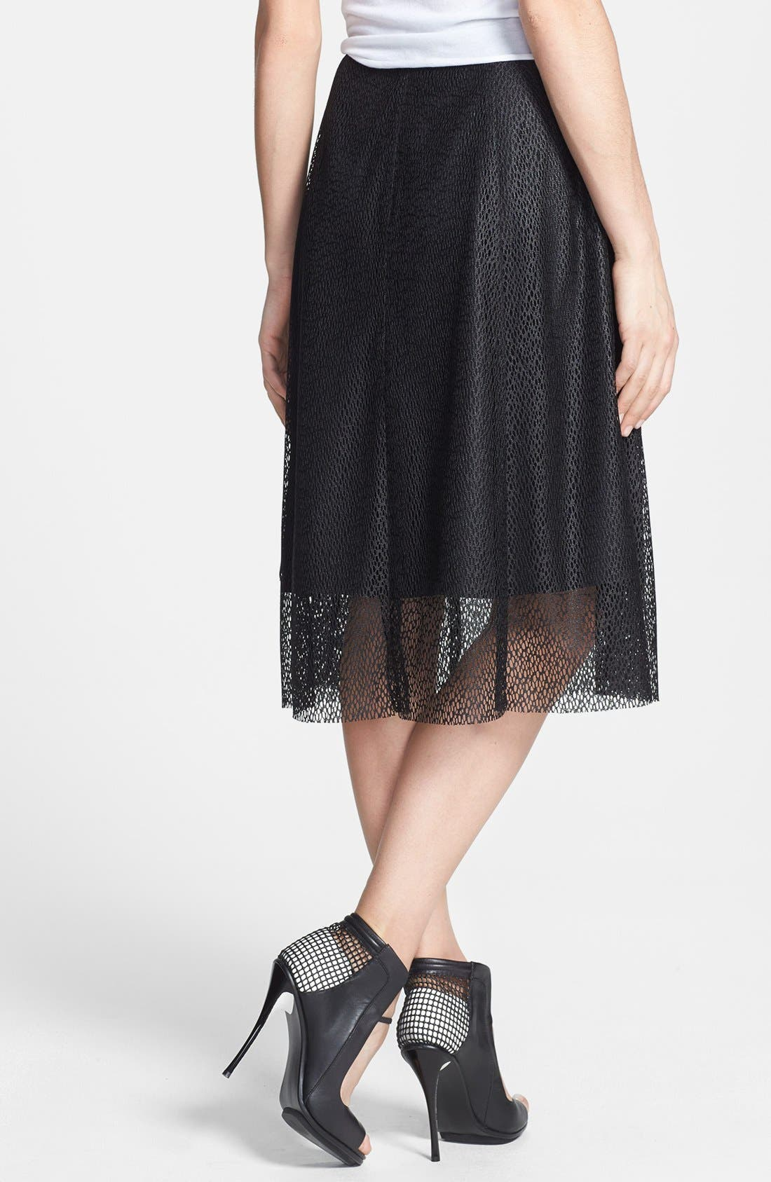 Alternate Image 2  - Tildon Textured Woven Midi Skirt