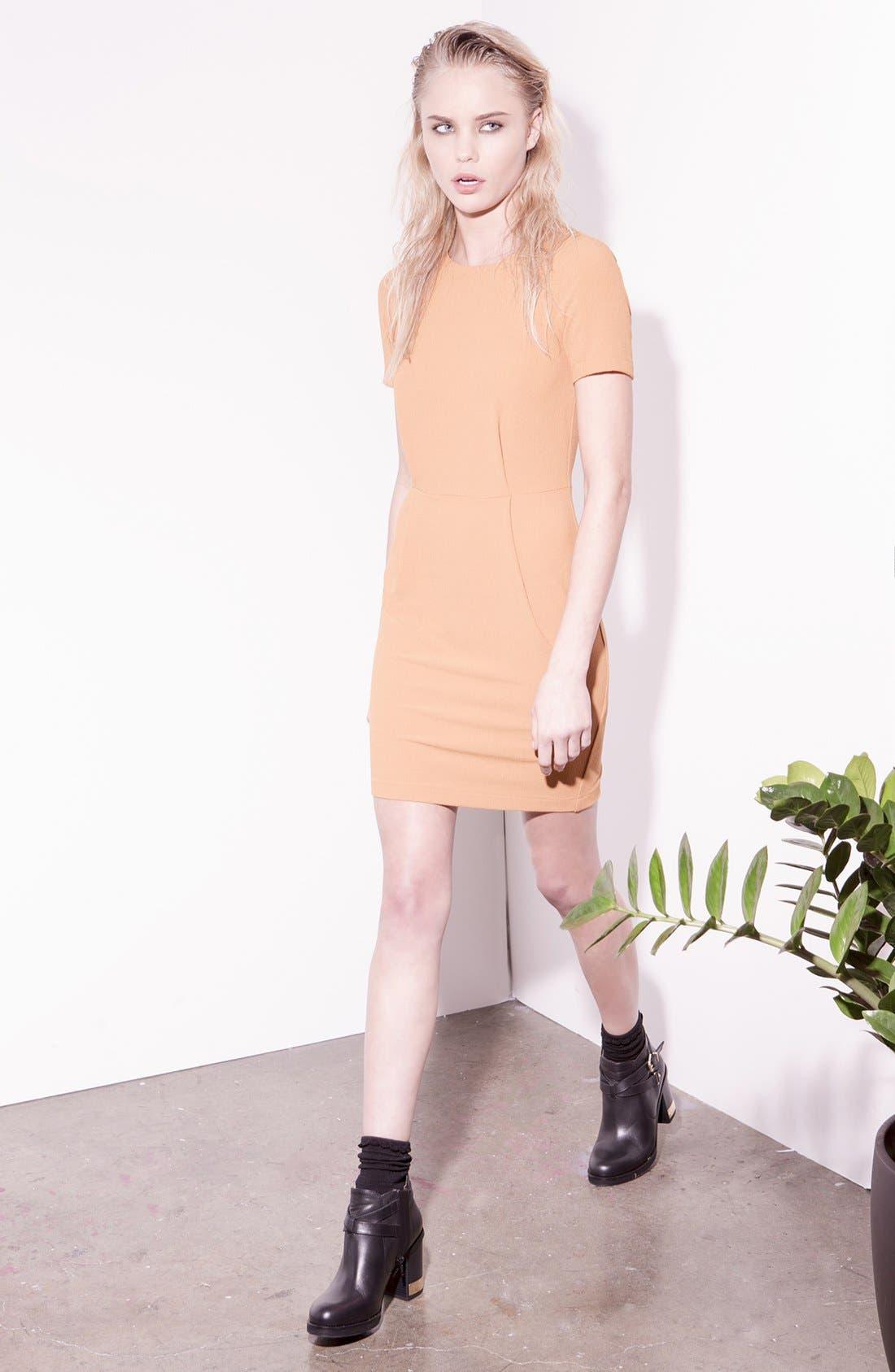 Alternate Image 4  - Topshop 'Elfin' Crepe Sheath Dress
