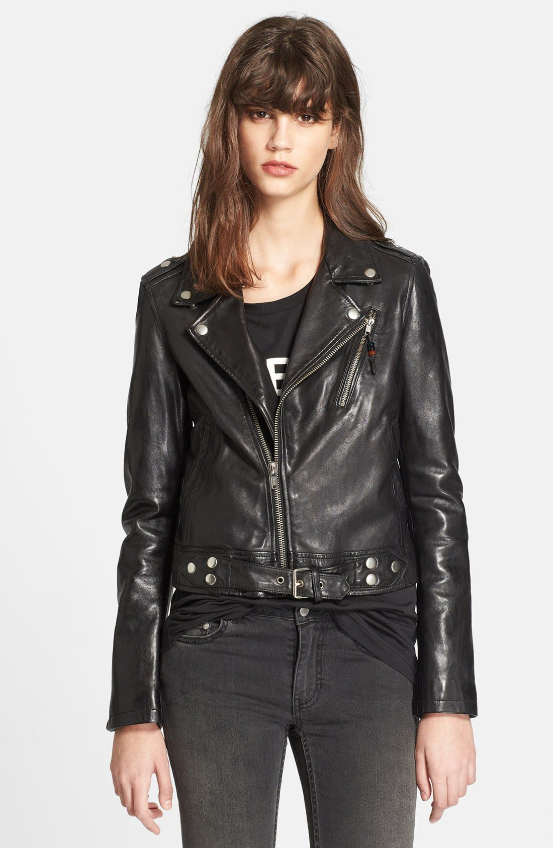 Alternate Image 1 Selected - BLK DNM Lambskin Leather Jacket