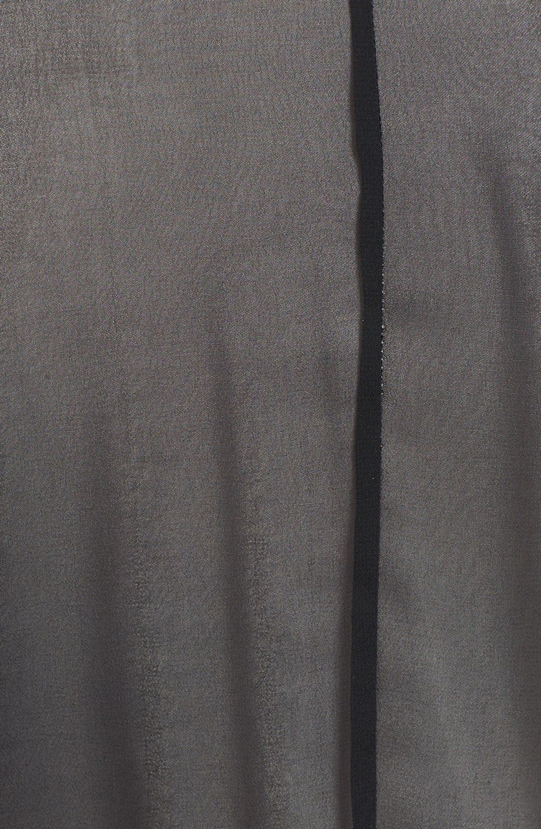 Alternate Image 3  - Vince Camuto Sheer Back Drape Front Cardigan (Plus Size)